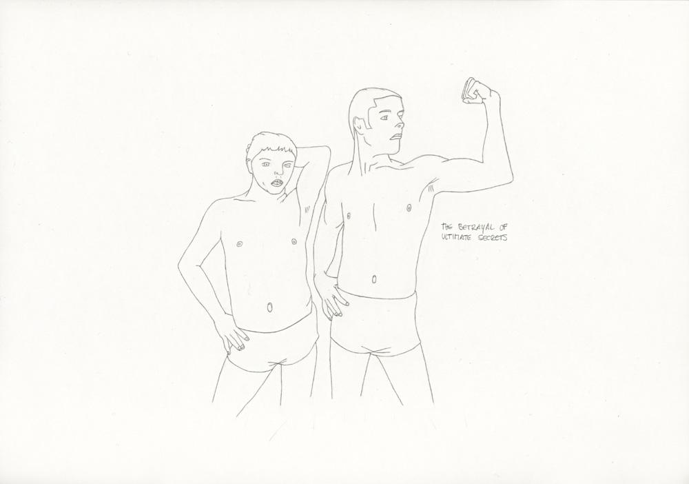 Kora Junger – »World's Saddest Songs« #011_08_06_939, 21 x 29,7 cm, pencil on paper, 2006