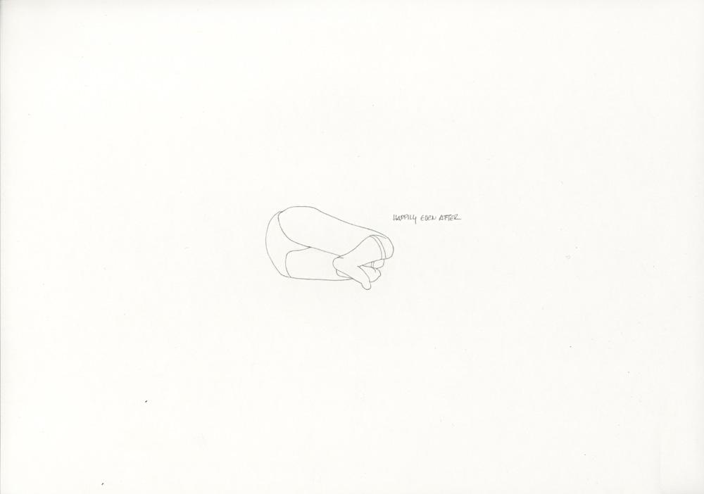 Kora Junger – »World's Saddest Songs« #011_09_06_940, 21 x 29,7 cm, pencil on paper, 2006