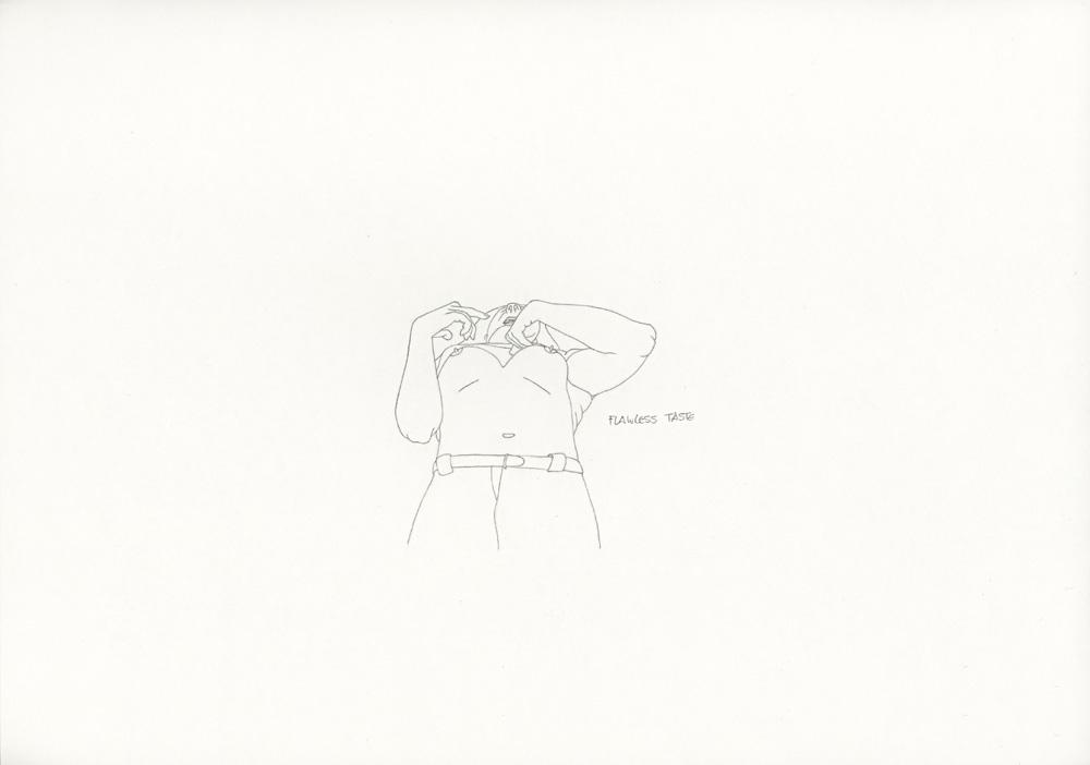 Kora Junger – »World's Saddest Songs« #011_11_06_942, 21 x 29,7 cm, pencil on paper, 2006