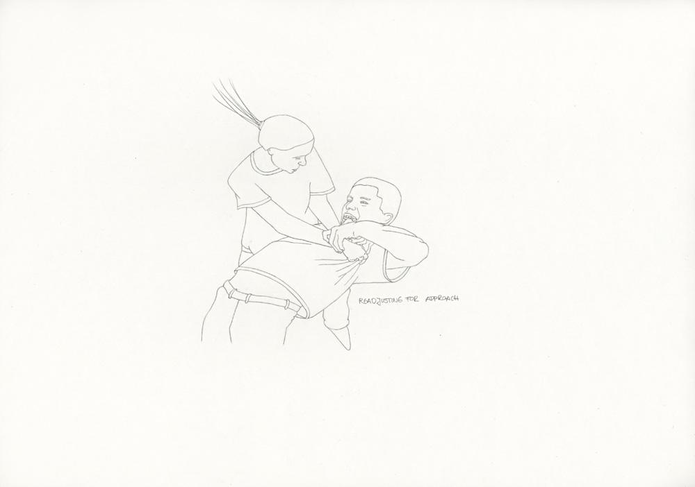 Kora Junger – »World's Saddest Songs« #011_13_06_944, 21 x 29,7 cm, pencil on paper, 2006