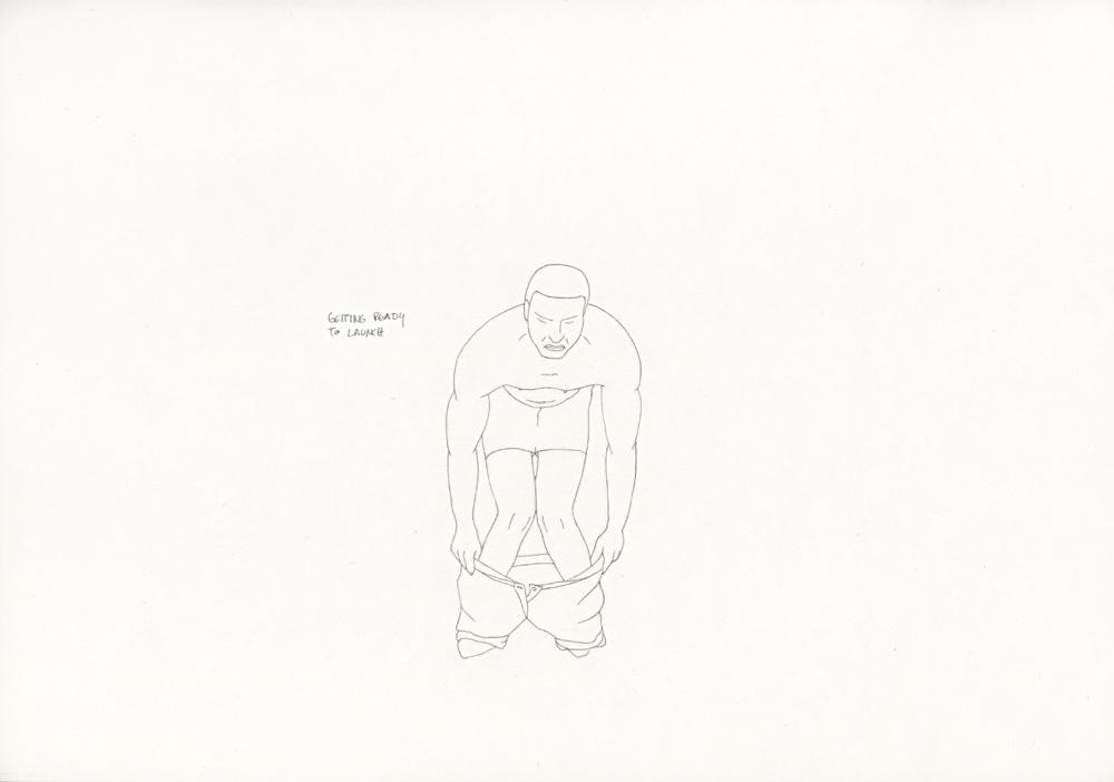 Kora Junger – »World's Saddest Songs« #011_15_06_946, 21 x 29,7 cm, pencil on paper, 2006