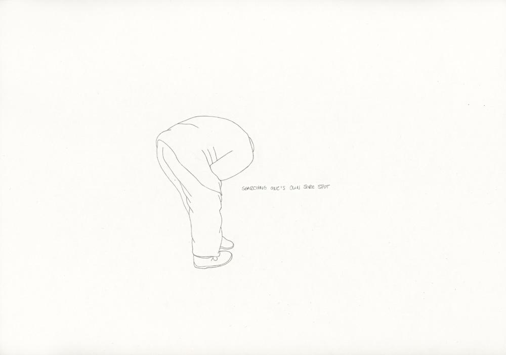 Kora Junger – »World's Saddest Songs« #011_17_06_948, 21 x 29,7 cm, pencil on paper, 2006