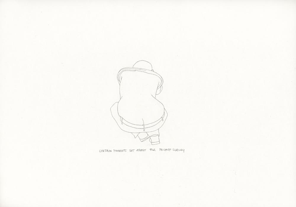 Kora Junger – »World's Saddest Songs« #011_19_06_950, 21 x 29,7 cm, pencil on paper, 2006