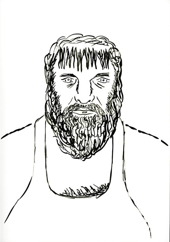 Kora Junger – #012_01_06_951, 29,7 x 21 cm, ink on paper, 2006