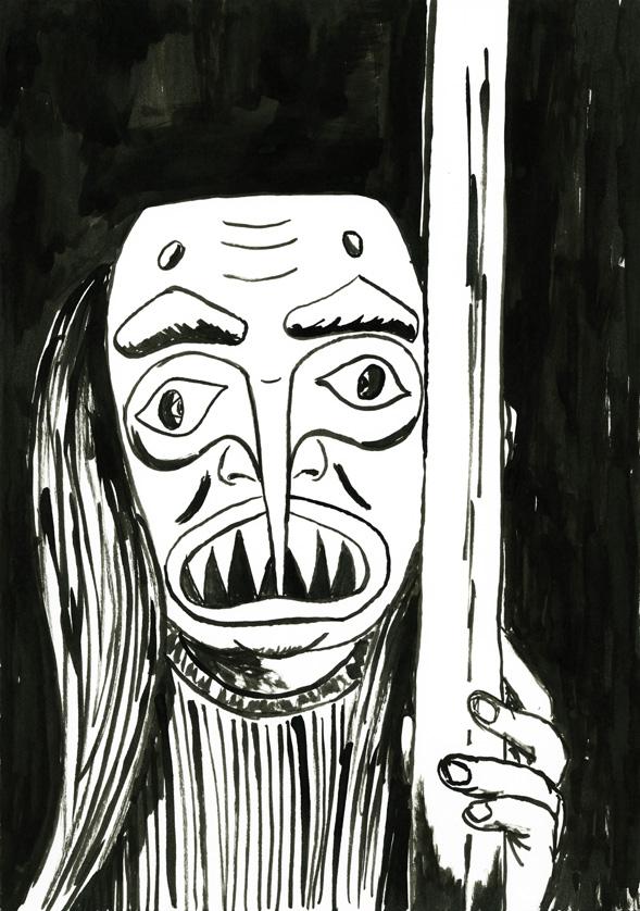 Kora Junger – #012_03_06_953, 29,7 x 21 cm, ink on paper, 2006