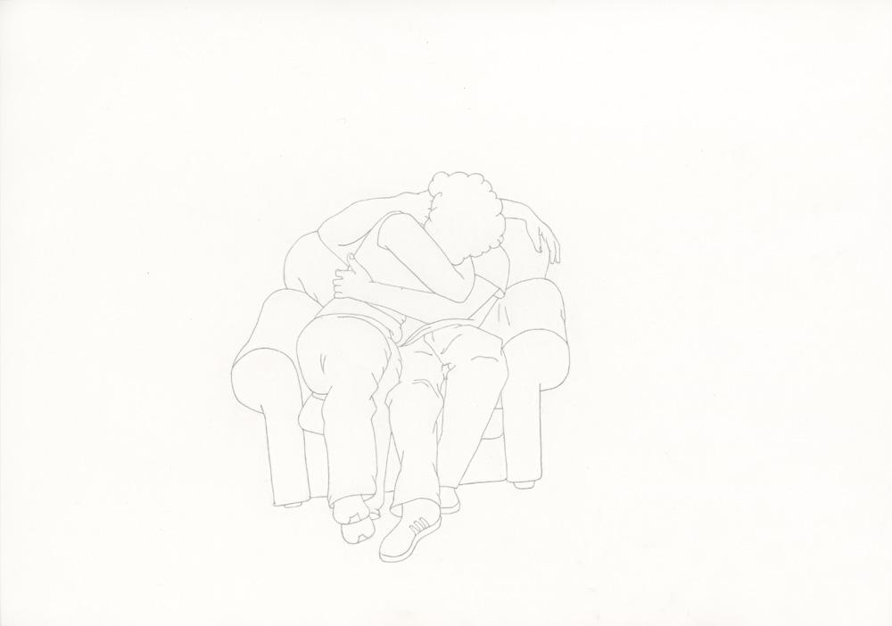 Kora Junger – »World's Saddest Songs« #013_02_06_955, 21 x 29,7 cm, pencil on paper, 2006