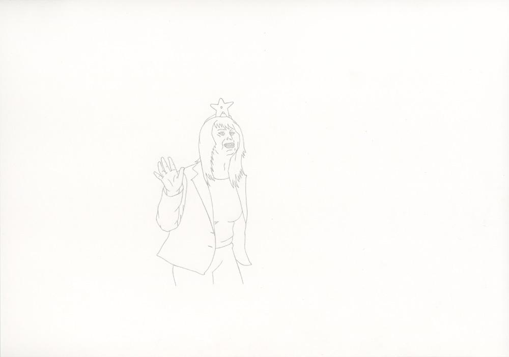 Kora Junger – »World's Saddest Songs« #013_03_06_956, 21 x 29,7 cm, pencil on paper, 2006