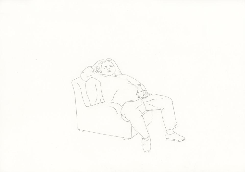 Kora Junger – »World's Saddest Songs« #013_04_06_957, 21 x 29,7 cm, pencil on paper, 2006