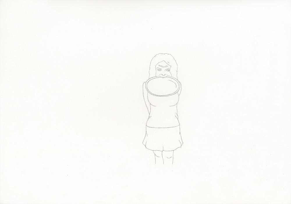 Kora Junger – »World's Saddest Songs« #013_05_06_958, 21 x 29,7 cm, pencil on paper, 2006