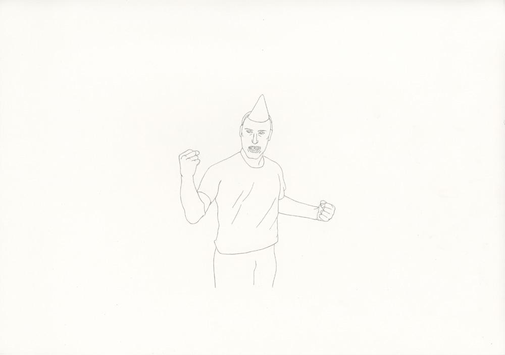 Kora Junger – »World's Saddest Songs« #013_06_06_959, 21 x 29,7 cm, pencil on paper, 2006