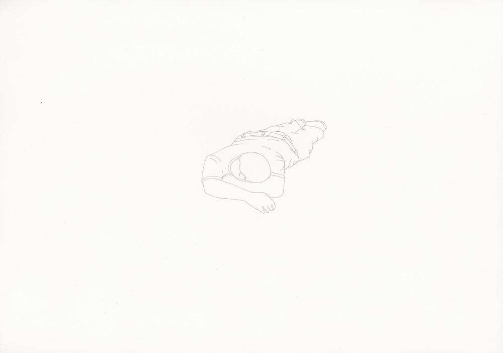 Kora Junger – »World's Saddest Songs« #013_08_06_961, 21 x 29,7 cm, pencil on paper, 2006