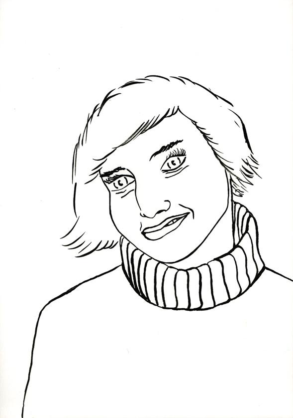 Kora Junger – #015_10_06_978, 29,7 x 21 cm, ink on paper, 2006
