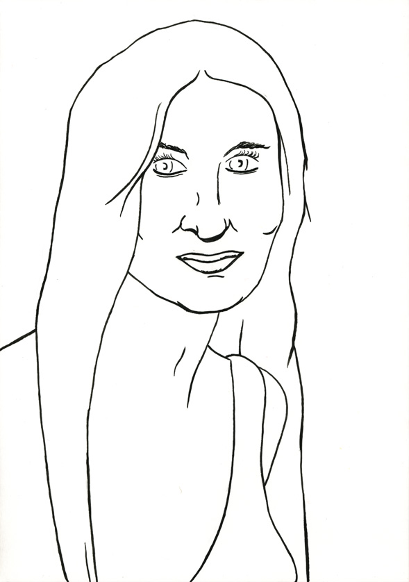 Kora Junger – #015_12_06_980, 29,7 x 21 cm, ink on paper, 2006