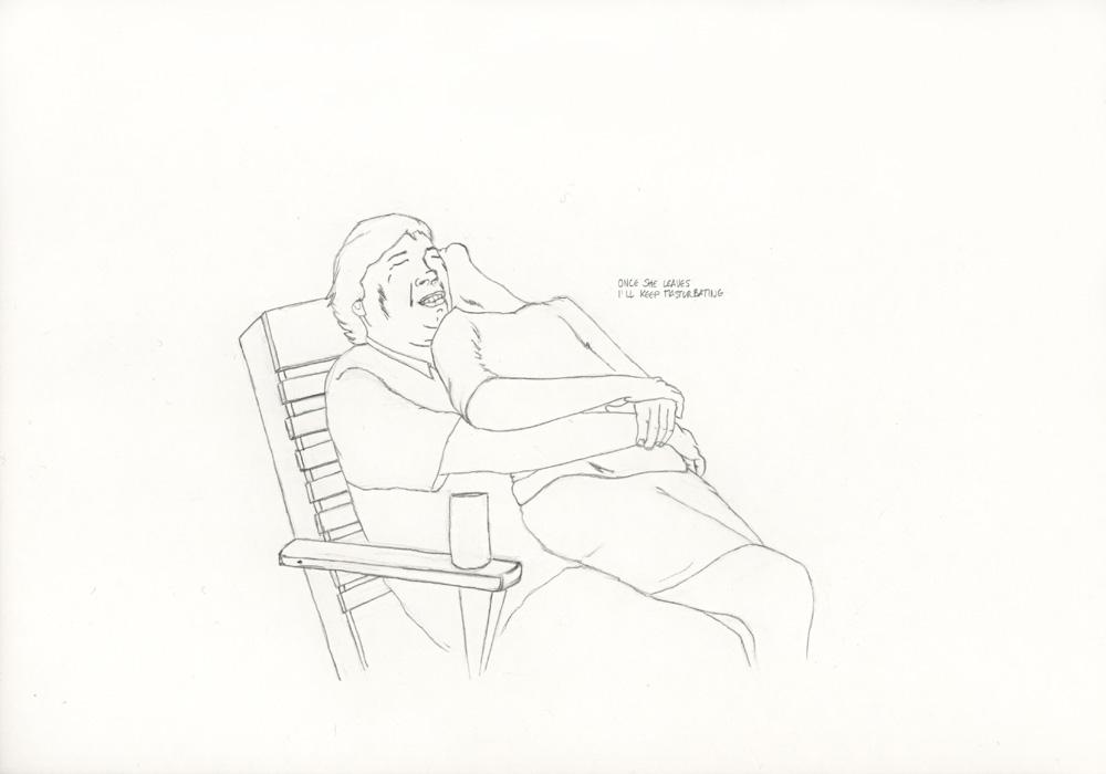 Kora Junger – »World's Saddest Songs« #017_01_05_809, 21 x 29,7 cm, pencil on paper, 2005