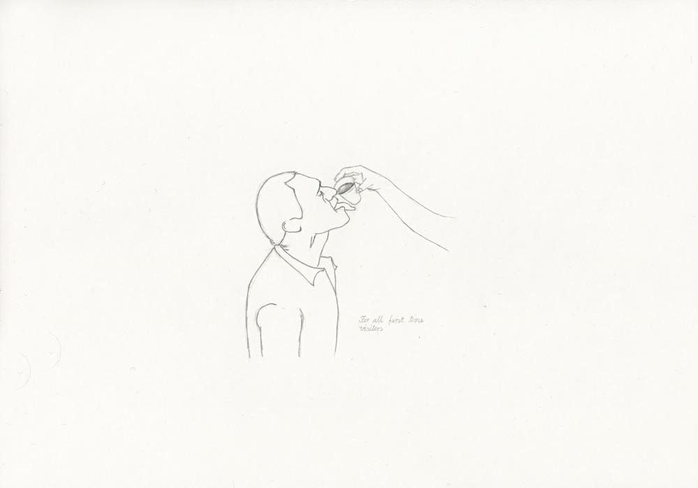 Kora Junger – »World's Saddest Songs« #017_03_05_811, 21 x 29,7 cm, pencil on paper, 2005