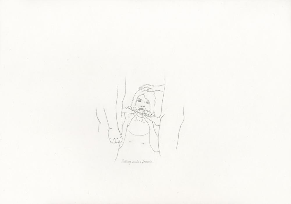 Kora Junger – »World's Saddest Songs« #017_04_05_812, 21 x 29,7 cm, pencil on paper, 2005