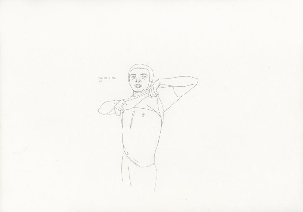 Kora Junger – »World's Saddest Songs« #017_06_05_814, 21 x 29,7 cm, pencil on paper, 2005