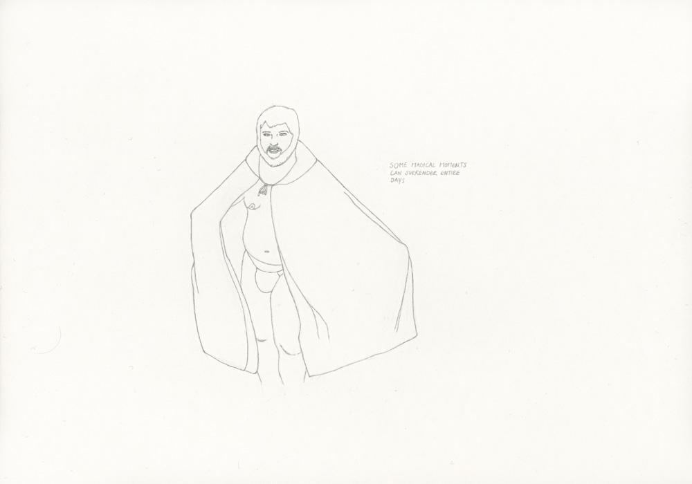 Kora Junger – »World's Saddest Songs« #017_07_05_815, 21 x 29,7 cm, pencil on paper, 2005