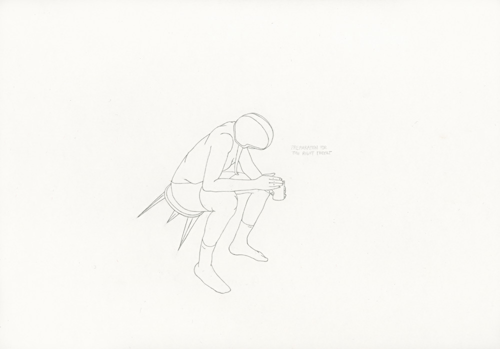 Kora Junger – »World's Saddest Songs« #017_09_05_817, 21 x 29,7 cm, pencil on paper, 2005