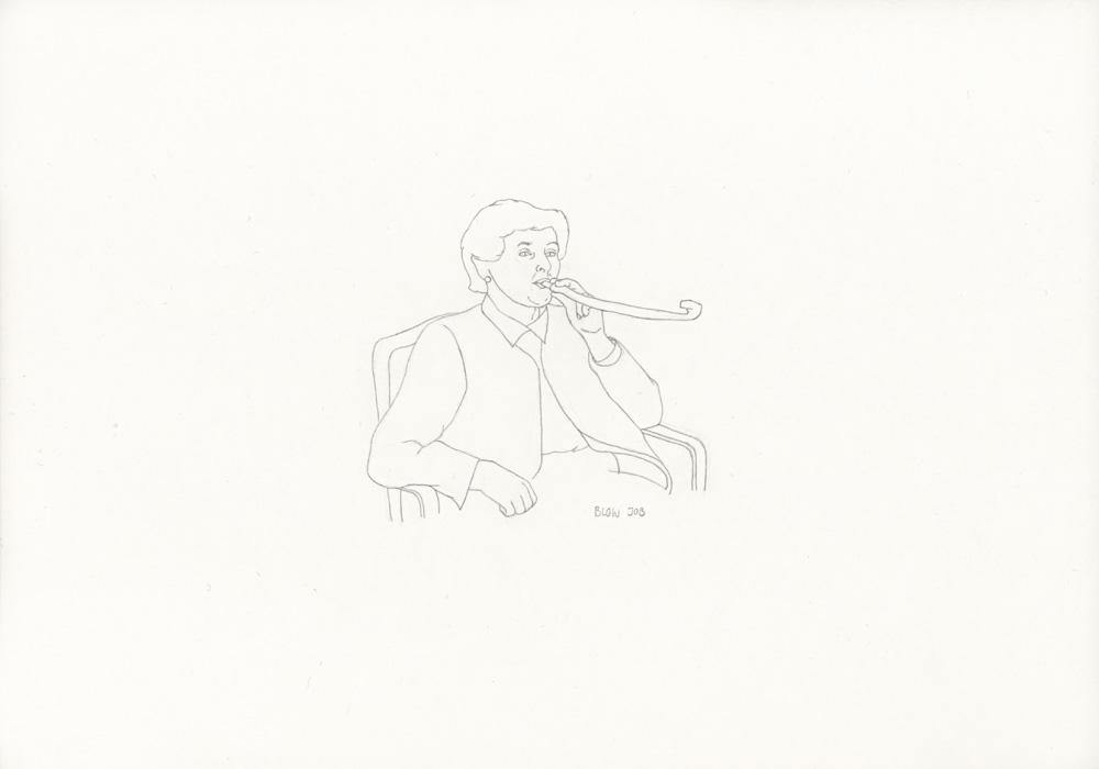 Kora Junger – »World's Saddest Songs« #021_01_05_827, 21 x 29,7 cm, pencil on paper, 2005
