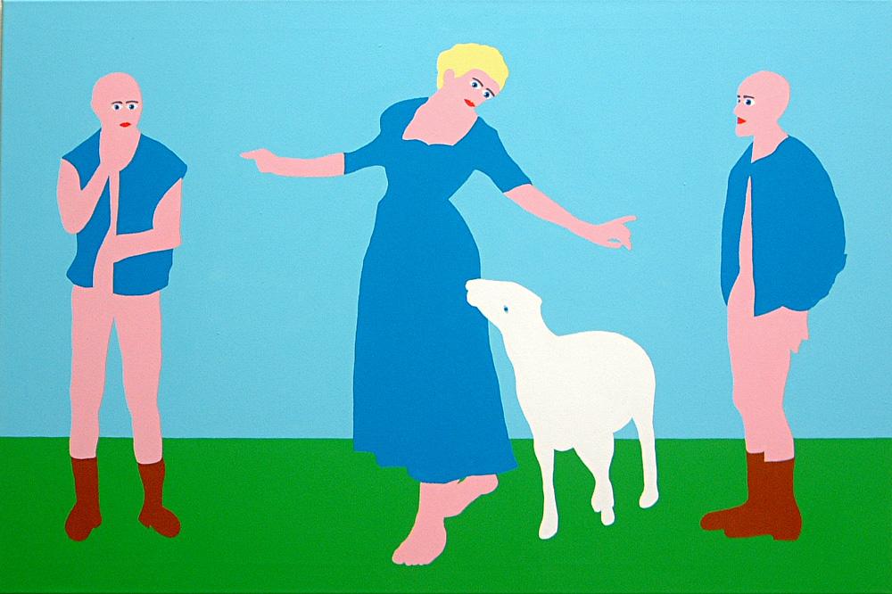Kora Junger – Dreigestirn, 80 x 120 cm, acryl on canvas, 2002