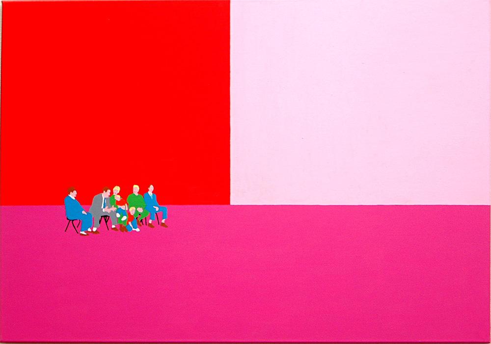 Kora Junger – Plan A #03, 70 x 100 cm, acryl on canvas, 2002