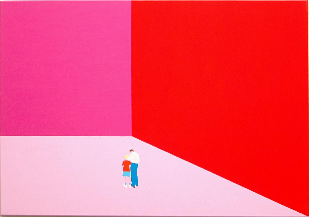 Kora Junger – Plan A #01, 70 x 100 cm, acryl on canvas, 2002