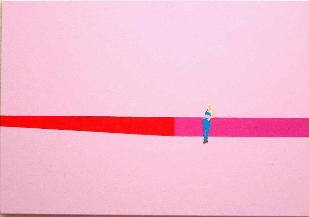 Kora Junger – Plan A #02, 70 x 100 cm, acryl on canvas, 2002
