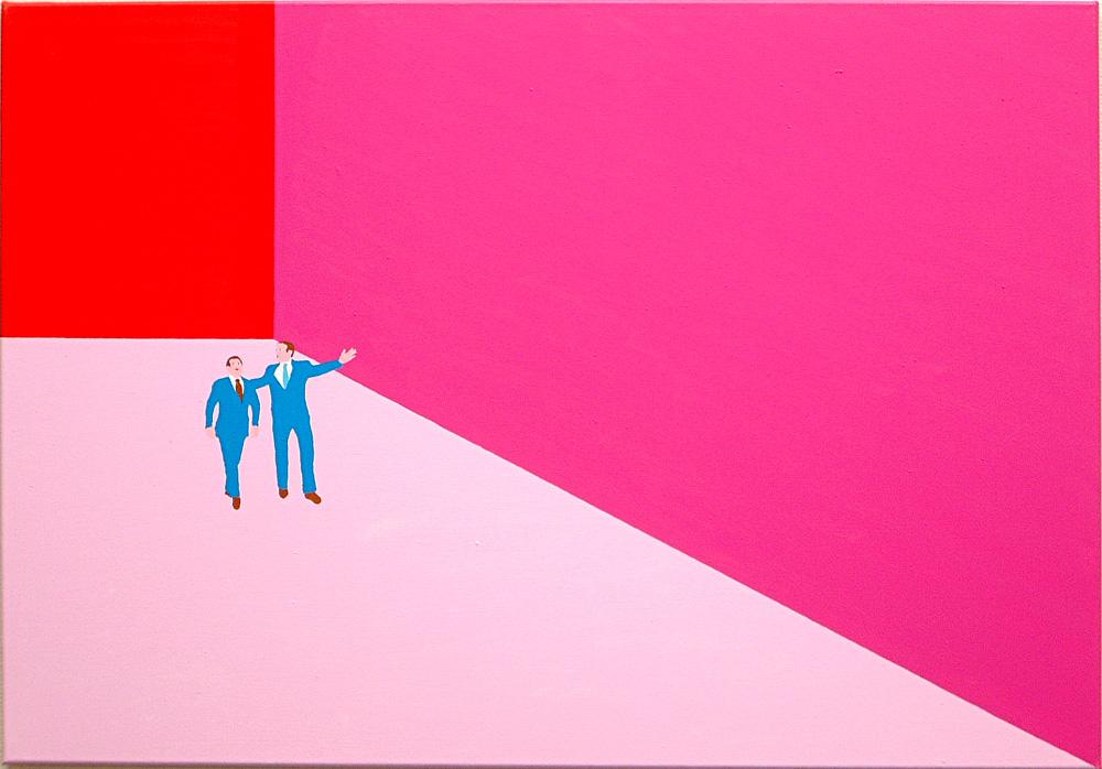 Kora Junger – Plan A #04, 70 x 100 cm, acryl on canvas, 2002