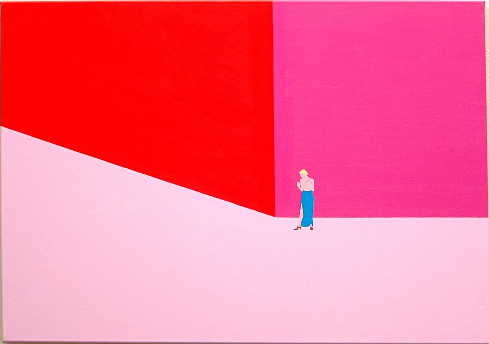 Kora Junger – Plan A #05, 70 x 100 cm, acryl on canvas, 2002