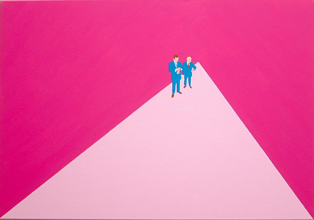 Kora Junger – Plan A #06, 70 x 100 cm, acryl on canvas, 2002