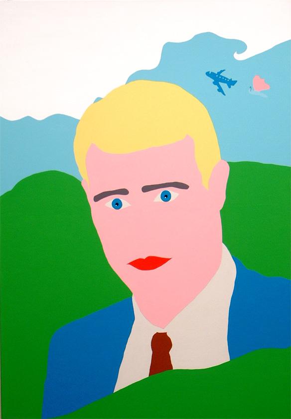 Kora Junger – portrait 1, 180 x 125 cm, acryl on canvas, 2002