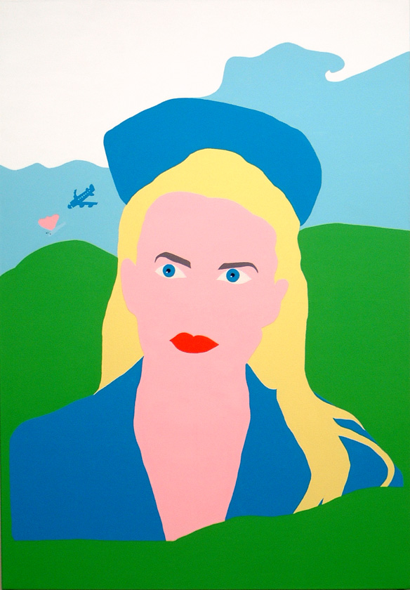Kora Junger – portrait 2, 180 x 125 cm, acryl on canvas, 2002