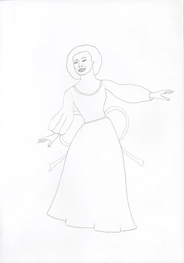 Kora Junger – #008_03_04_618, 29,7 cm x 21 cm, pencil on paper, 2004