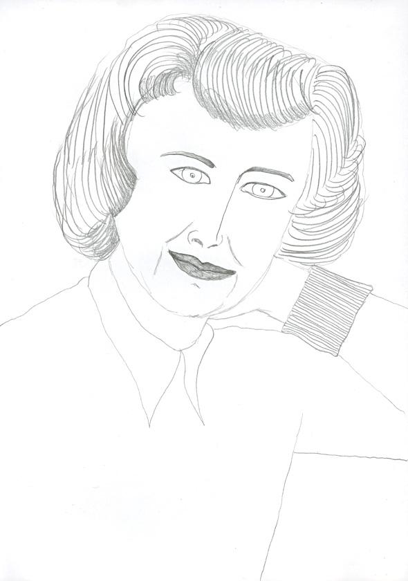 Kora Junger – #008_05_04_620, 29,7 cm x 21 cm, pencil on paper, 2004