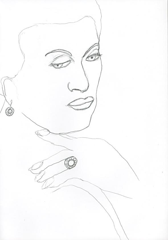 Kora Junger – #008_11_04_626, 29,7 cm x 21 cm, pencil on paper, 2004