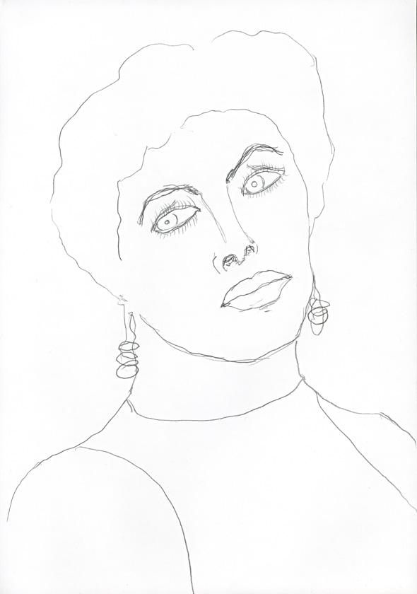 Kora Junger – #008_14_04_629, 29,7 cm x 21 cm, pencil on paper, 2004