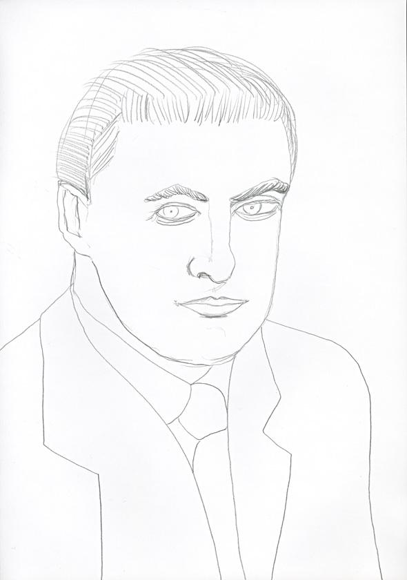 Kora Junger – #008_16_04_631, 29,7 cm x 21 cm, pencil on paper, 2004