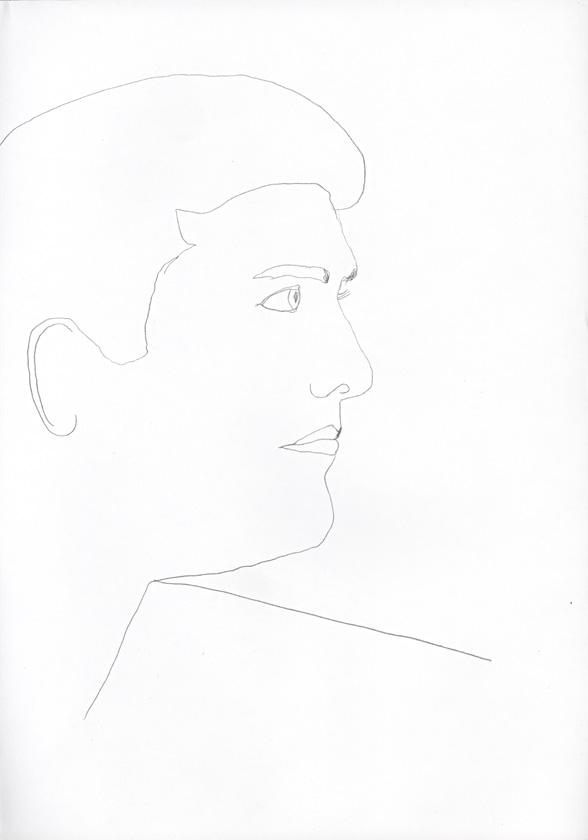 Kora Junger – #008_25_04_640, 29,7 cm x 21 cm, pencil on paper, 2004
