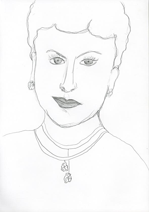 Kora Junger – #008_26_04_641, 29,7 cm x 21 cm, pencil on paper, 2004