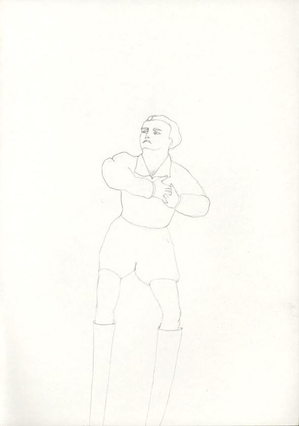 Kora Junger – #018_01_04_698, 29,7 cm x 21 cm, pencil on paper, 2004