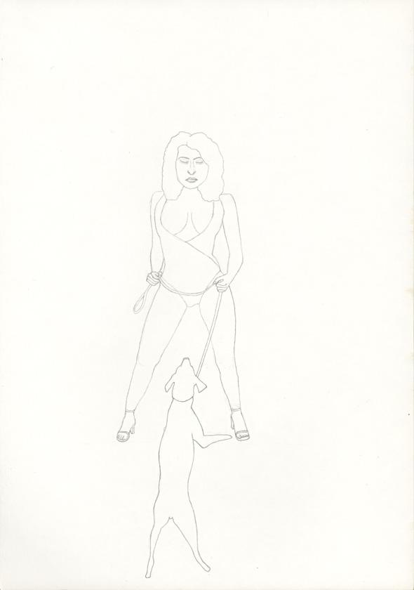 Kora Junger – #018_02_04_699, 29,7 cm x 21 cm, pencil on paper, 2004
