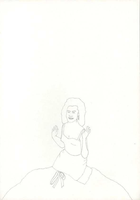 Kora Junger – #018_04_04_701, 29,7 cm x 21 cm, pencil on paper, 2004