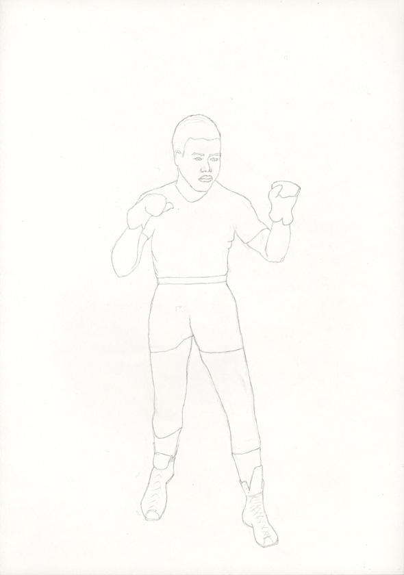 Kora Junger – #021_03_04_716, 29,7 cm x 21 cm, pencil on paper, 2004