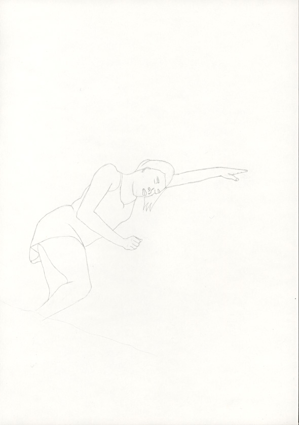 Kora Junger – #002_06_05_737, 29,7 cm x 21 cm, pencil on paper, 2005