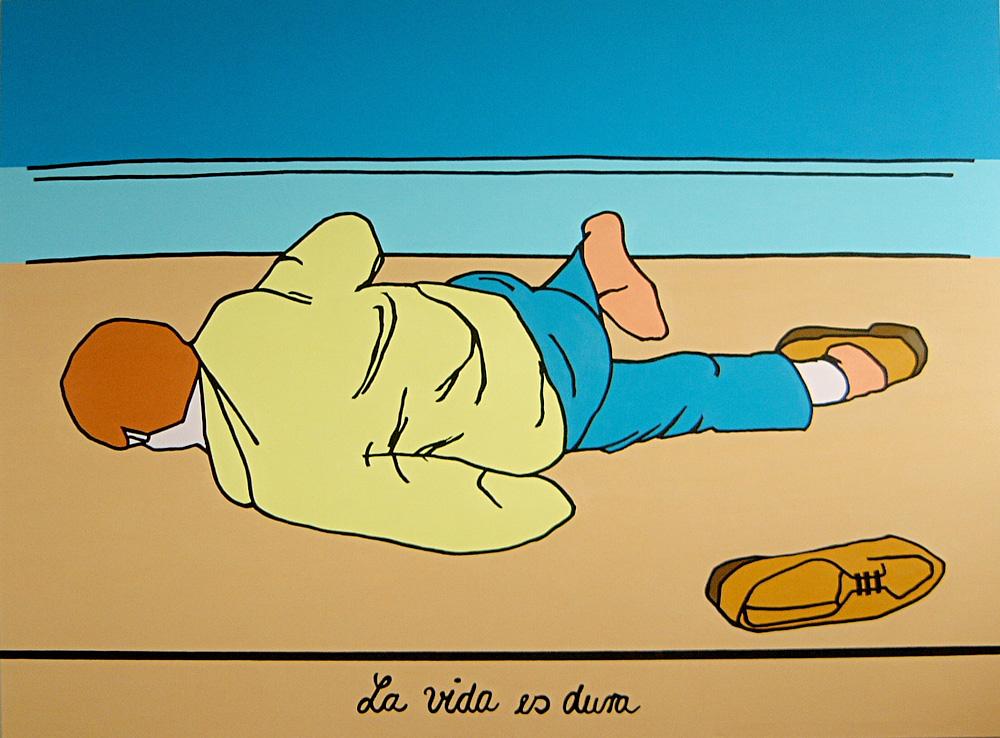 Kora Junger – La vida es dura, 170 x 230 cm, 2005