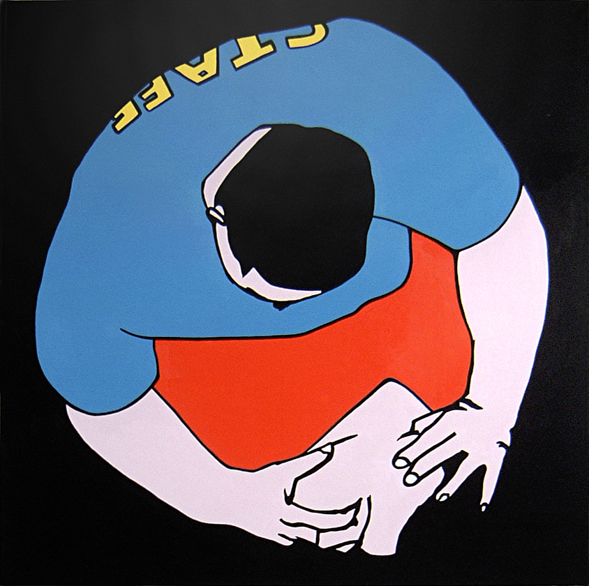Kora Junger – Youme & Meyou, 120 x 120 cm, acryl on canvas, 2005