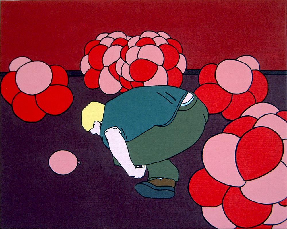 Kora Junger – ritual dancing, 40 x 50 cm, acryl on canvas, 2006