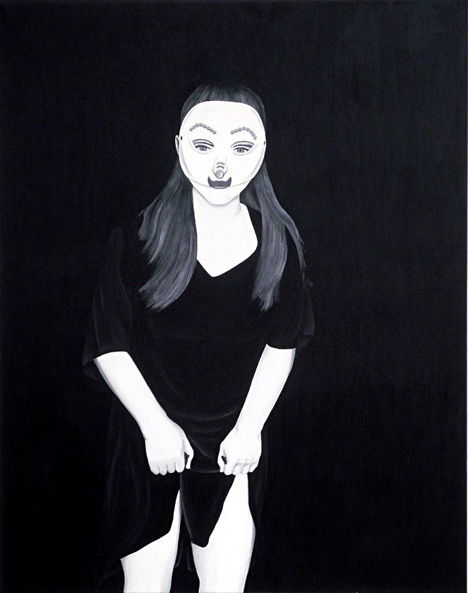 Kora Junger – Bottom Left Corner, 120 x 95 cm, acryl on canvas, 2006