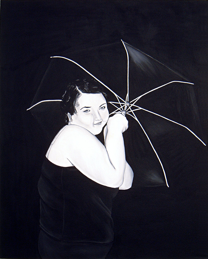 Kora Junger – Drip Drop Heavy Drops,, 140x 120 cm, acryl on canvas, 2006